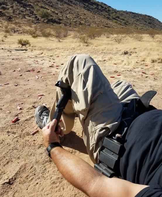 Injured Gunfighter (rifle/pistol)
